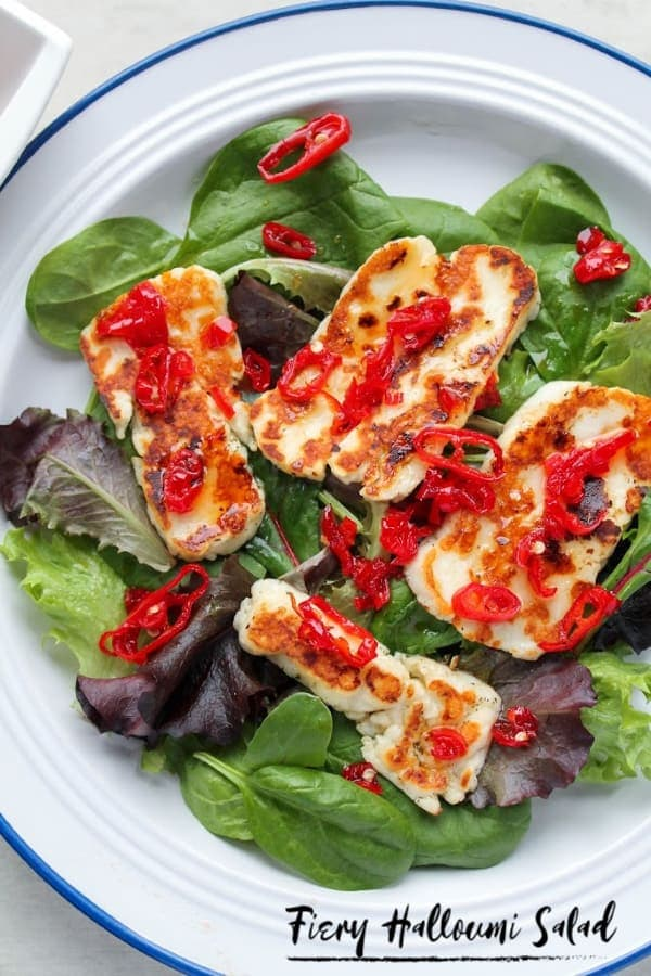 Fiery Halloumi Salad | How to Be Awesome on $20 a Day