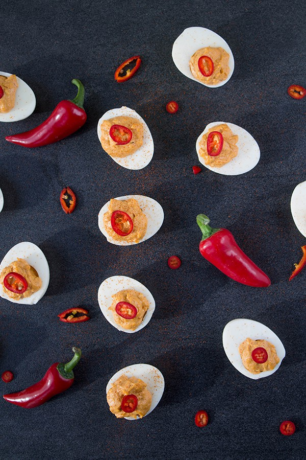 Jalapeno Deviled Eggs   How to Be Awesome on $20 a Day