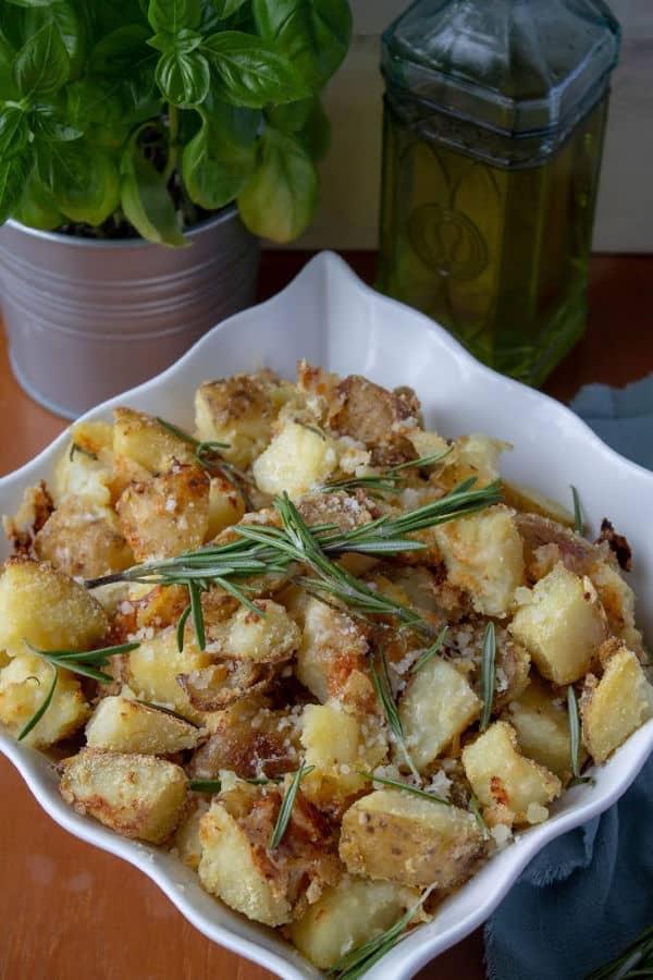 Italian Roasted Potatoes with rosemary