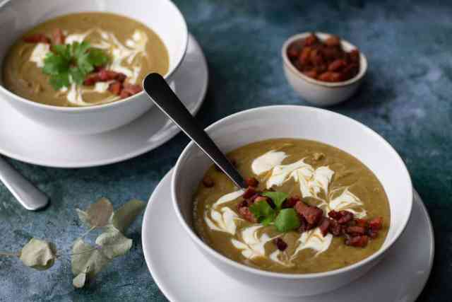 two bowls of Chestnut Soup