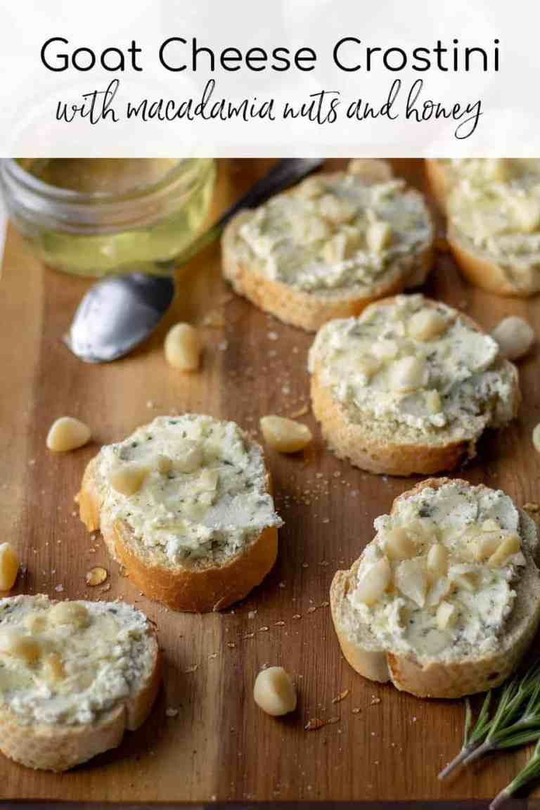 Goat Cheese Crostini with text