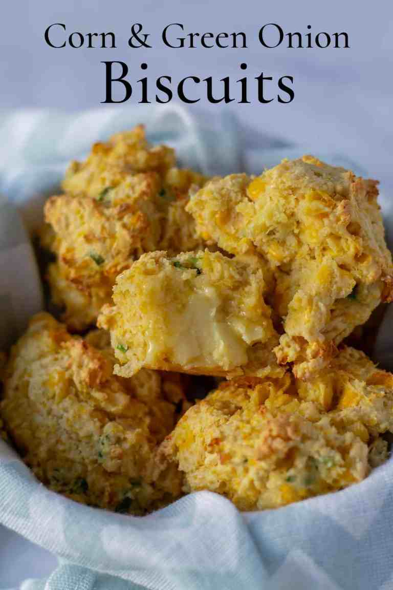 Corn & Green Onion Biscuits with text
