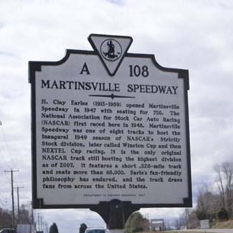 historic martinsville sign