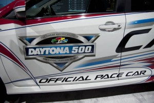 Side door of the Daytona 500 pace car.