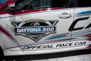 Side door of the Daytona 500 pace car.