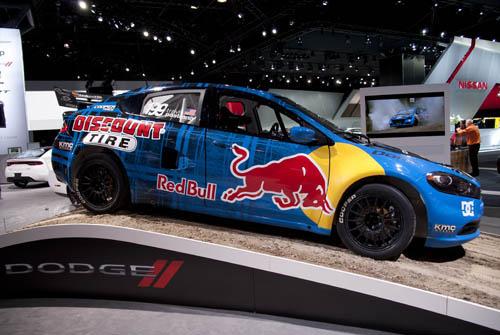 Red Bull car on ramp