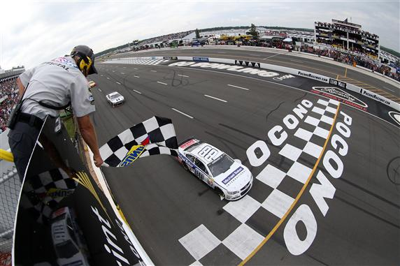 Dale jr winning at Pocono