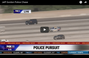 Jeff Gordon Police Chase Video