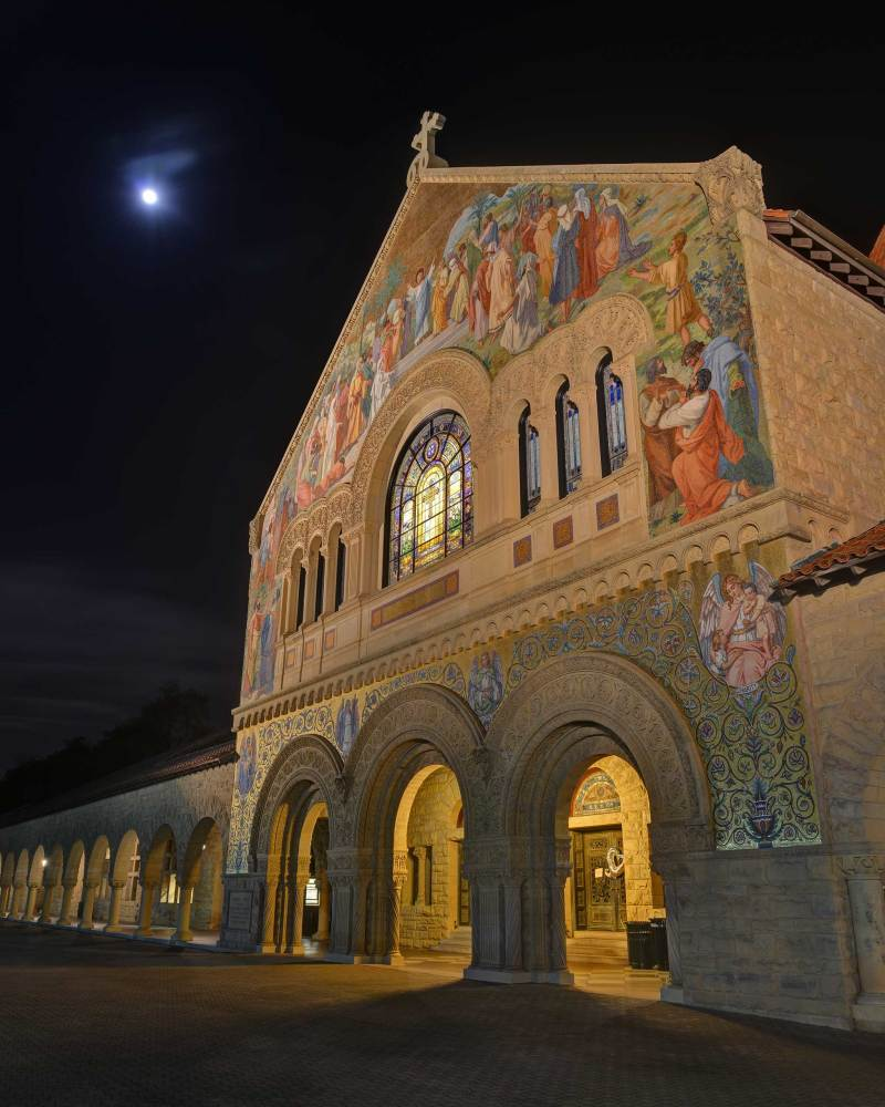 Stanford Memorial Church Full Moon