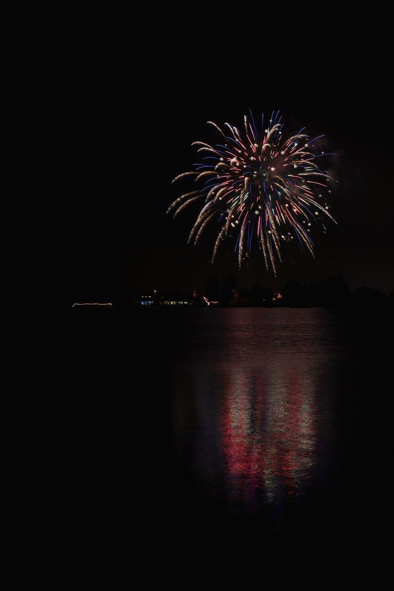 Fireworks at Shoreline Lake
