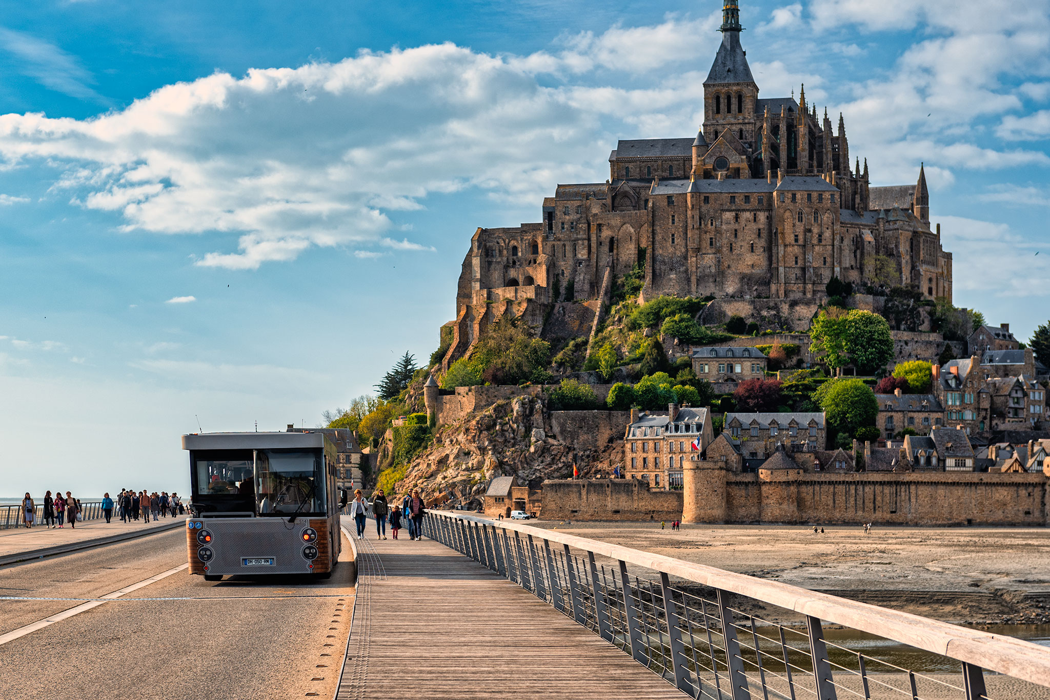 Complimentary Shuttle Bus (Navette) at Mont Saint Michel