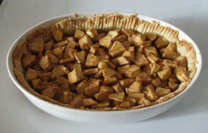 Open Faced Apple Pie