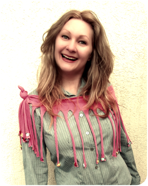 Creative Q & A + the fantabulous fringed shawl