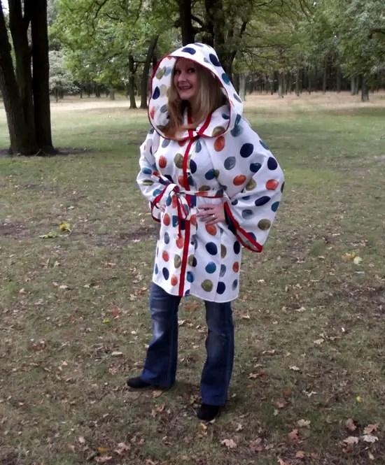 The Sensational Shower Curtain to Raincoat Refashion