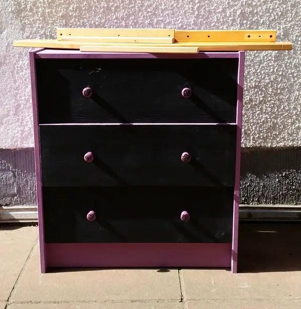 dresser to sandbox diy (2)