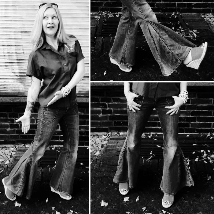 diy flare bottom jeans