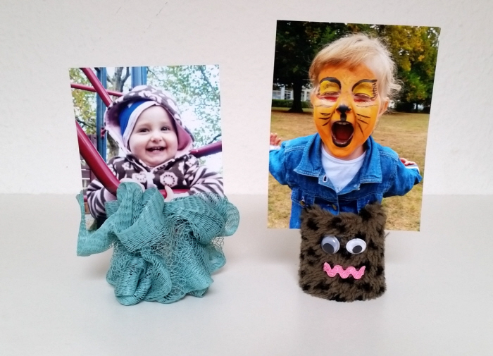 upcycled diy toilet roll photo holders