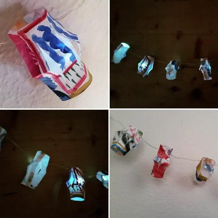 diy upcycled mini paper lanterns