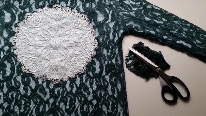 lace dress refashion tutorial