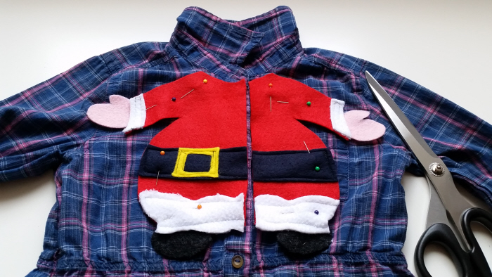 diy upcycled refashioned christmas blouses