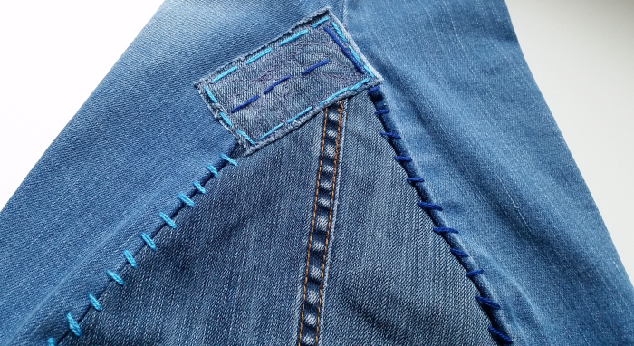 DIY Flared Bell Bottomed Jeans tutorial