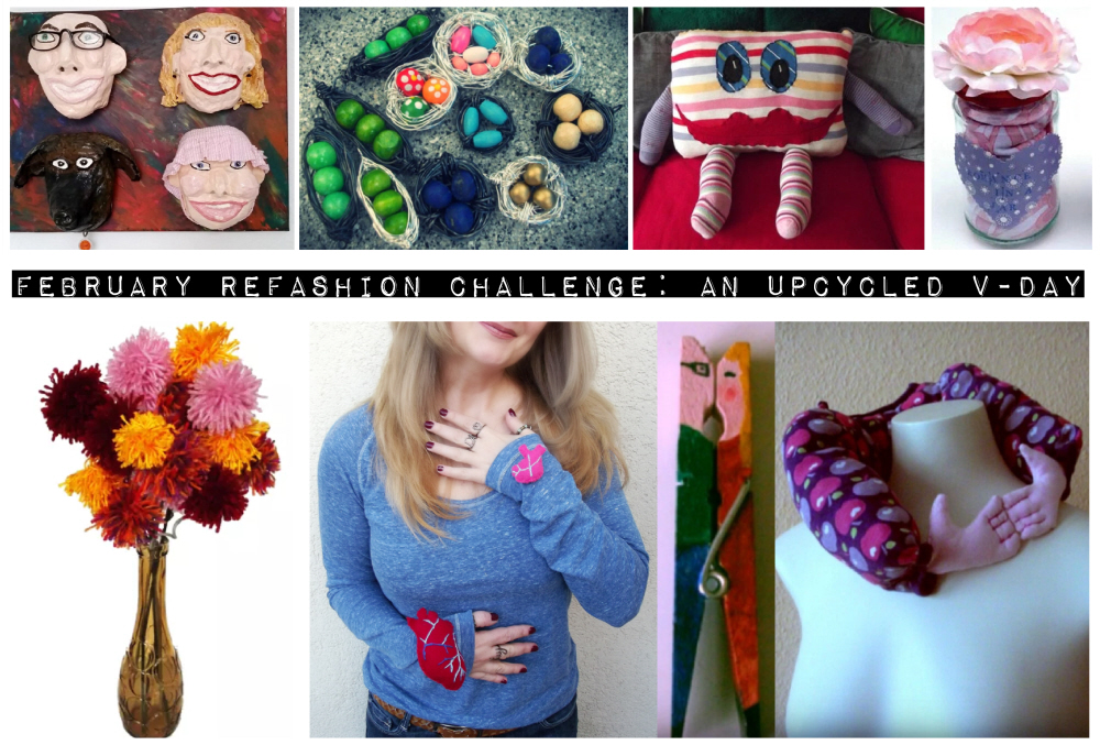 February refashion Challenge An Upcycled V-Day