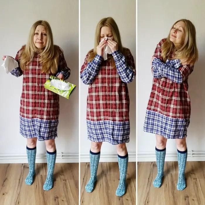 My cozy DIY flannel shirt dress refashion