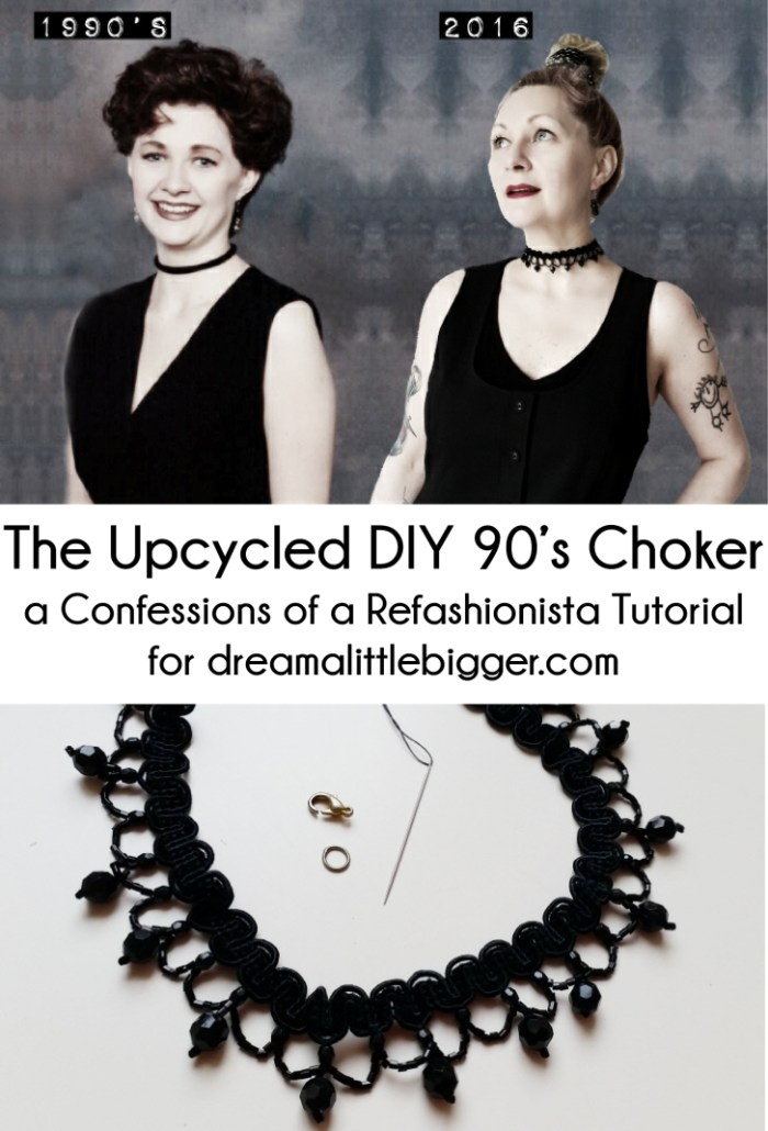 the upcycled DIY 90's choker
