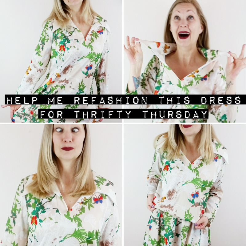 Help me refashion this dress for #ThriftyThursday