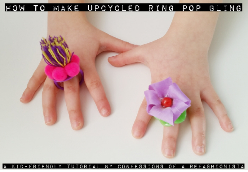 How To Make Upcycled Ring Pop Bling