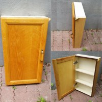 Easy Vintage Bathroom Cabinet Makeover ~ Confessions of a