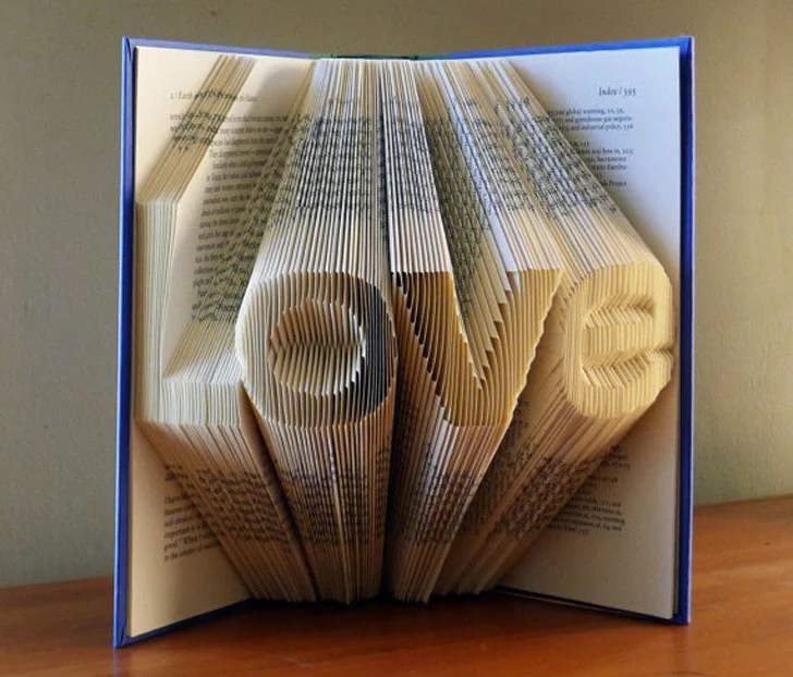 Custom Made Folded Book Art Gifts Awesome Stuff 365
