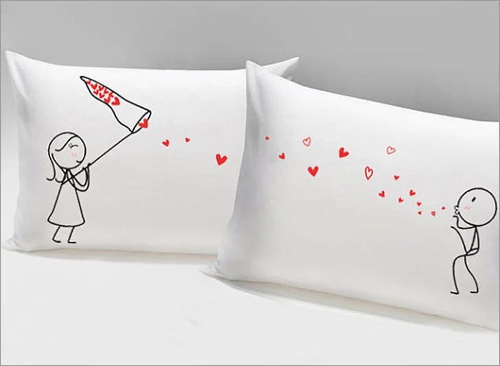 30 cutest couples pillowcases for him