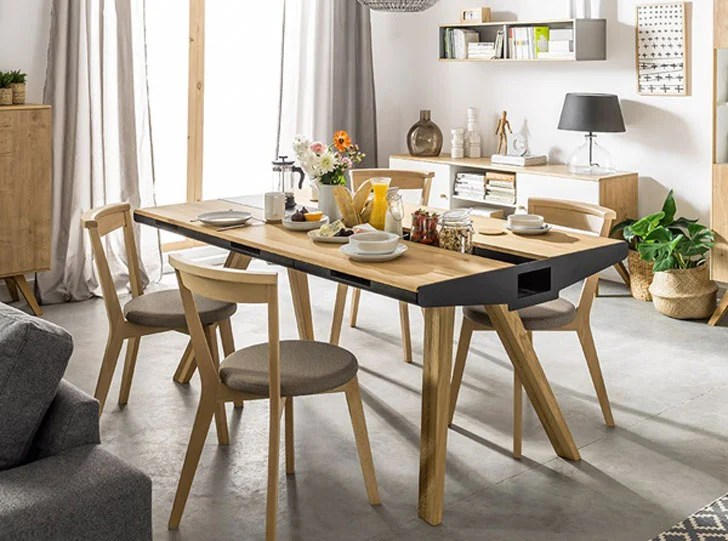 unique kitchen tables tall bags size 40 coolest dining you can buy awesome stuff 365 vox oak table with built in trivet