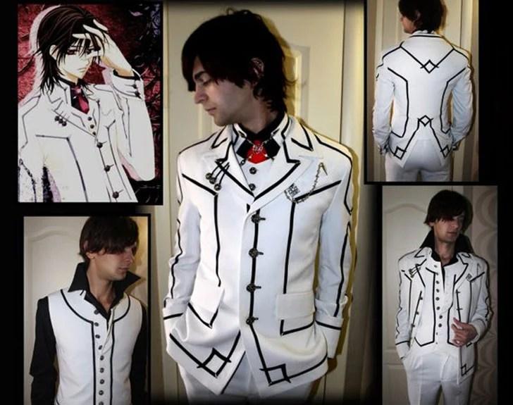 Traje de Kaname Kuran Vampire Knight Anime - trajes de anime para homens