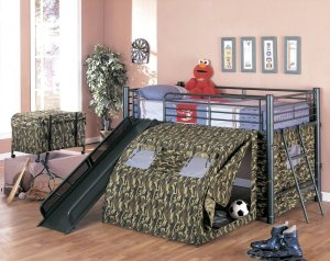 Coaster Kid's Oates Lofted Bed with Slide and Tent Review