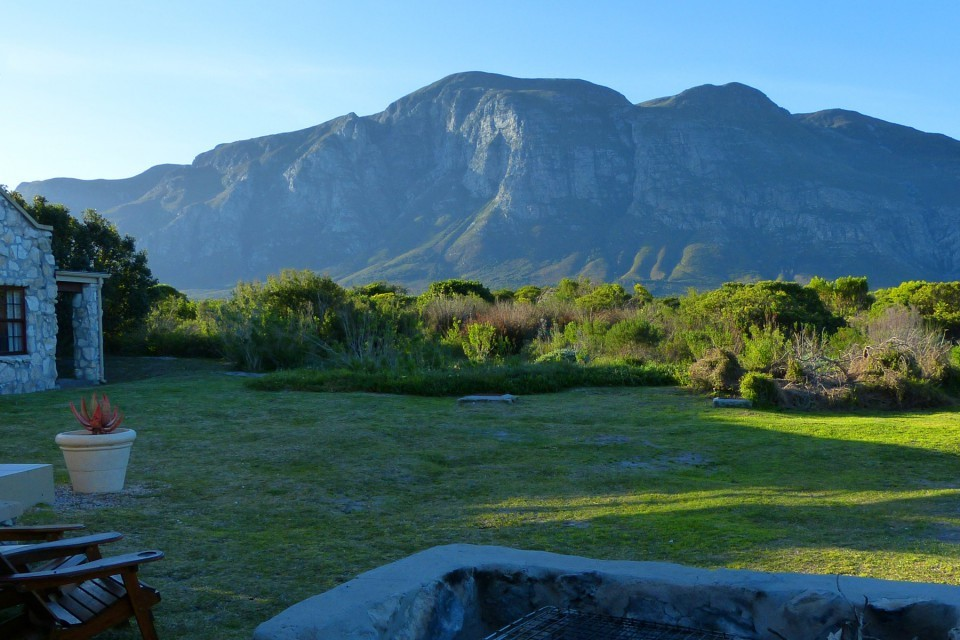 View from Fynbos Cottage Mosaic Private Sanctuary, Hermanus, Western Cape, S.A.