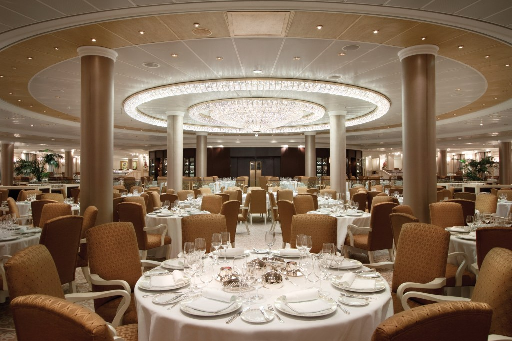 The Grand Dining Room on-board Riviera Oceania Cruises