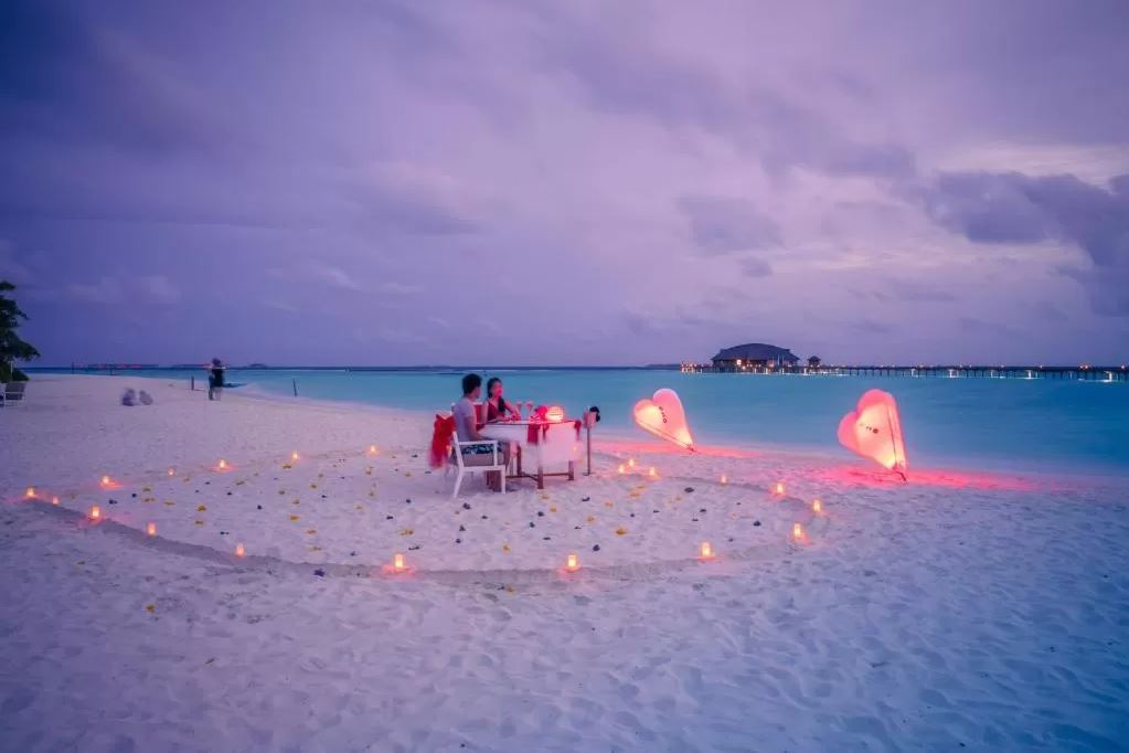 Enjoy a Romantic Dinner on the Beach at Siyam World Resort Maldives