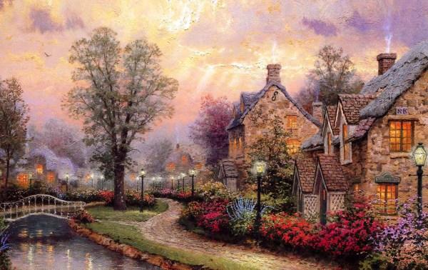 Thomas Kinkade Lamp Light Lane