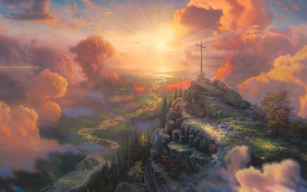 Thomas Kinkade Cross Painting