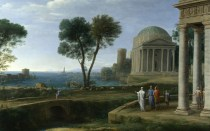 Full title: Landscape with Aeneas at Delos Artist: Claude Date made: 1672 Source: http://www.nationalgalleryimages.co.uk/ Contact: picture.library@nationalgallery.co.uk Copyright (C) The National Gallery, London