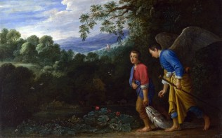 Full title: Tobias and the Archangel Raphael Artist: After Adam Elsheimer Date made: mid-17th century Source: http://www.nationalgalleryimages.co.uk/ Contact: picture.library@nationalgallery.co.uk Copyright (C) The National Gallery, London
