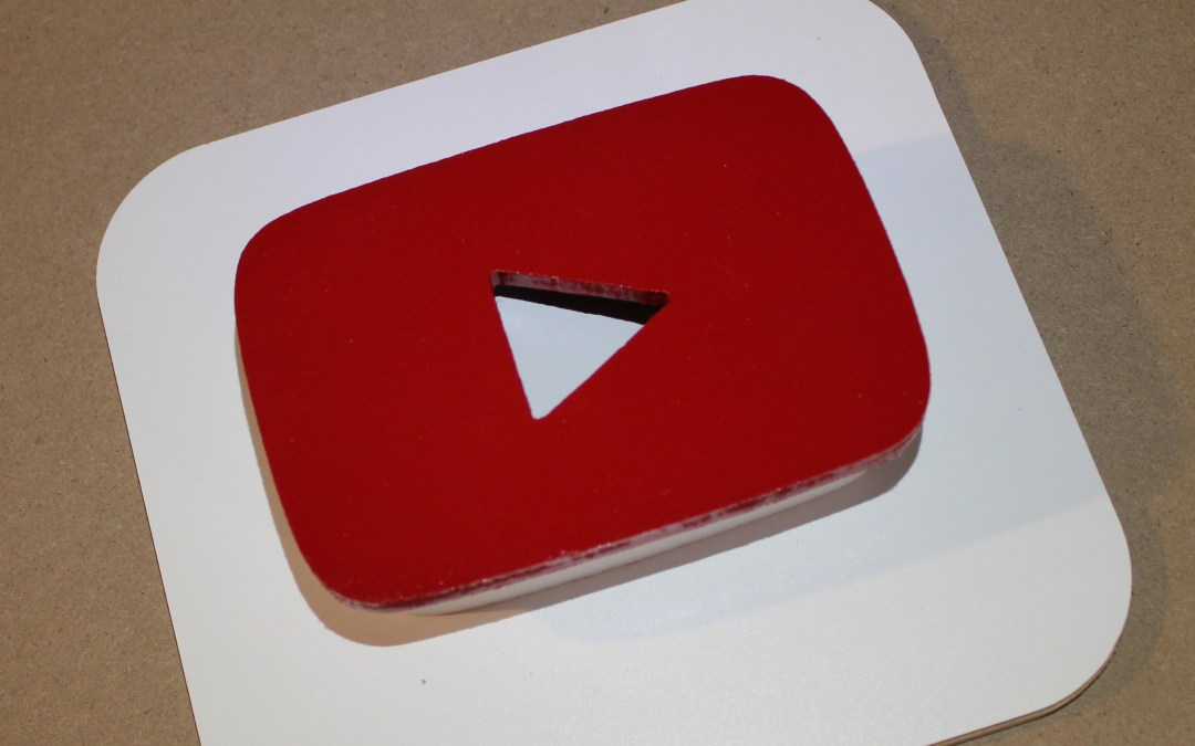 Three-Dimensional YouTube Icon Art