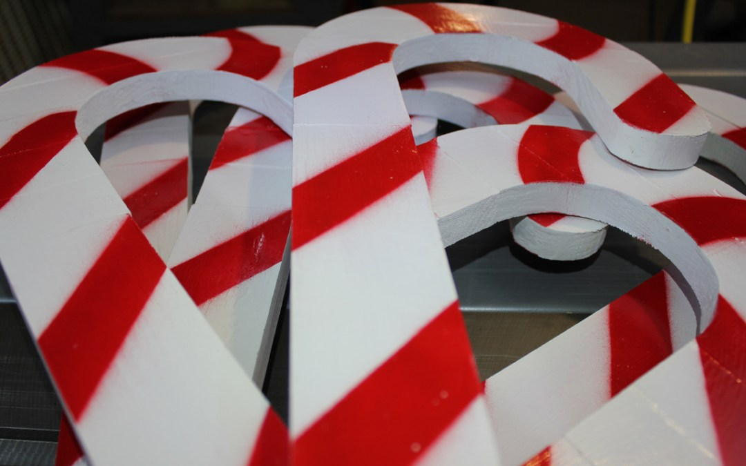 Holiday Lawn Ornament Candy Canes