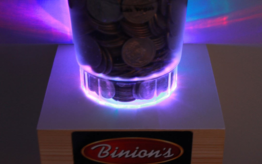 LED Whiskey & Casino Memorabilia Display Shelf