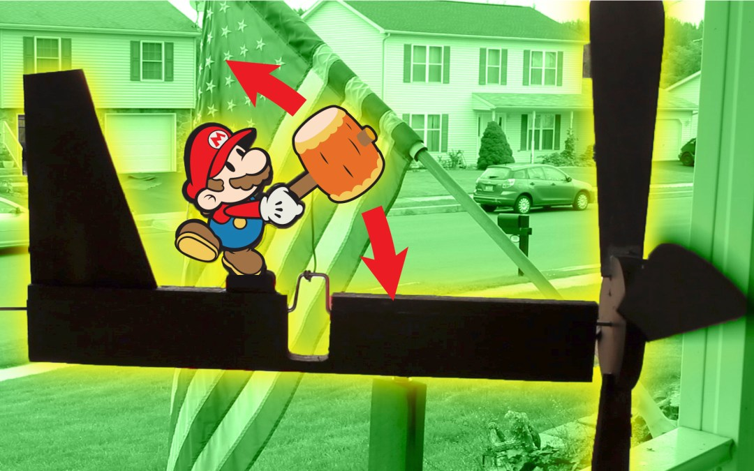 Swinging Mallet Nintendo Mario Whirligig (Powered by Wind!)