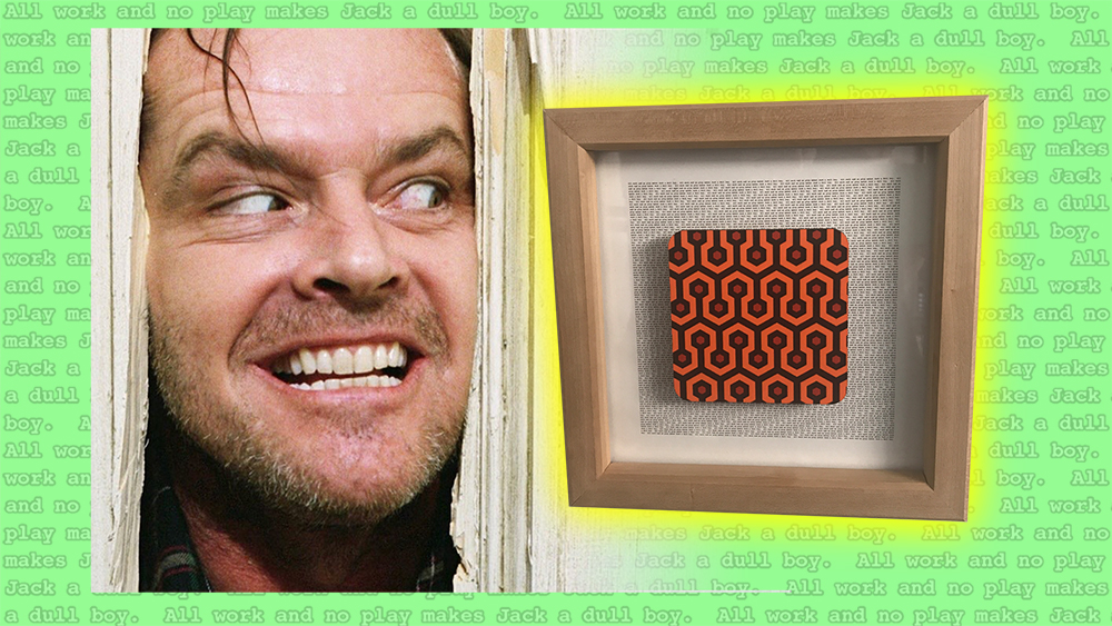 DIY Wood Frame for Art Deco Pattern from The Shining