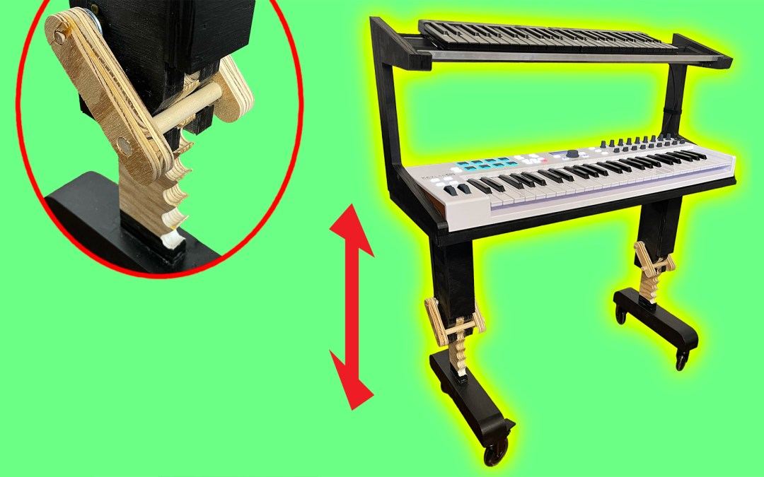 How To Make A Height-Adjustable Desk For Midi Keyboards