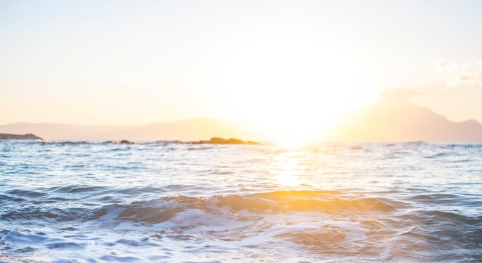morning sun on beach